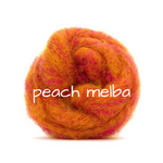 Load image into Gallery viewer, Carded Corriedale Slivers   Peach Melba Pumpkin Orange