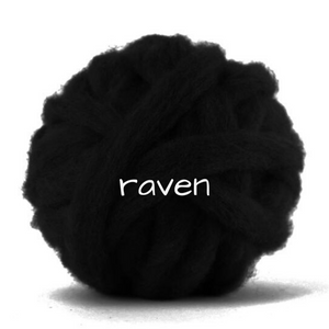 Carded Corriedale Slivers   Raven Black