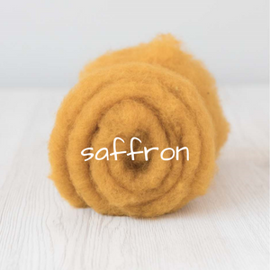 Carded Batting  New Zealand Wool DHG 'Maori' Batt - Saffron