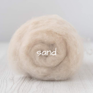 Carded Batting Extra Fine Merino Needle Felting Wool - Sand
