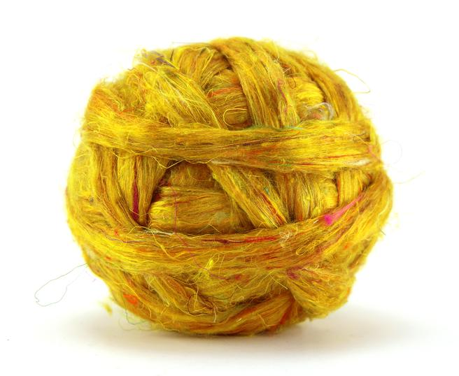 Sari Silk Top/Roving - 'Honeycomb'  20g