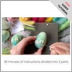 Load image into Gallery viewer, Needle Felted Blossom Eggs - Free Video Tutorial by The Lady Moth