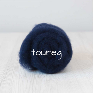 Carded Batting  New Zealand Wool DHG 'Maori' Batt - Toureg