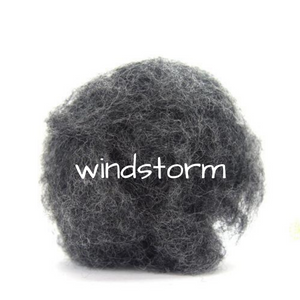 Carded Corriedale Slivers   Windstorm
