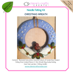 Load image into Gallery viewer, Christmas Wreath Needle Felting Kit