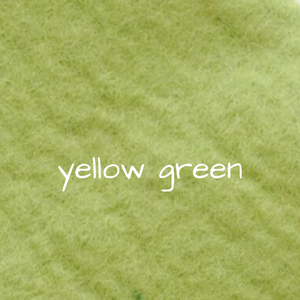 1mm Wool Felt - Yellow Green