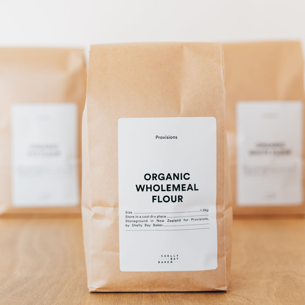 Shelly Bay Baker - Organic Wholemeal Flour 1.5kg bag