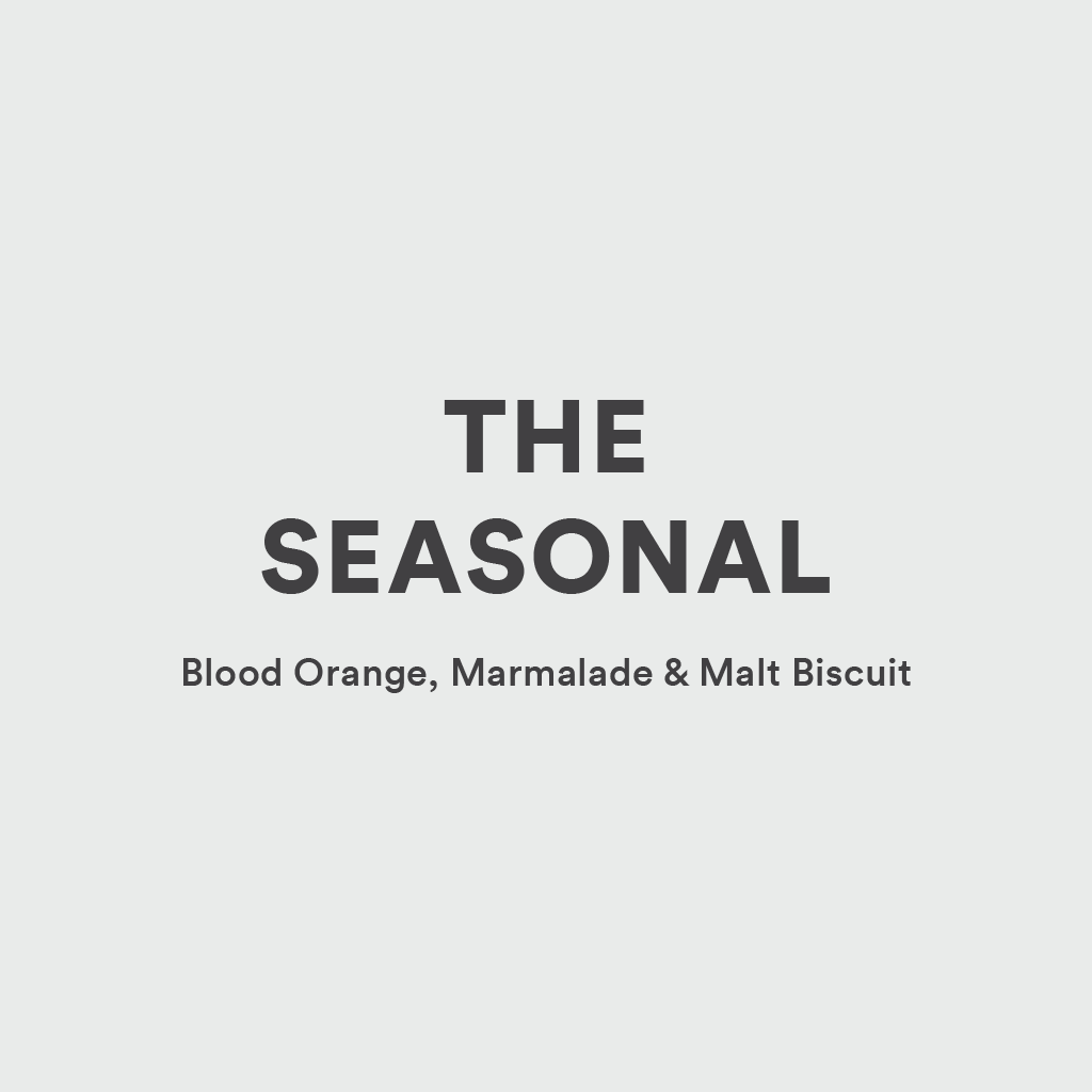 The Seasonal Flavours: Blood Orange, Marmalade and Malt Biscuit