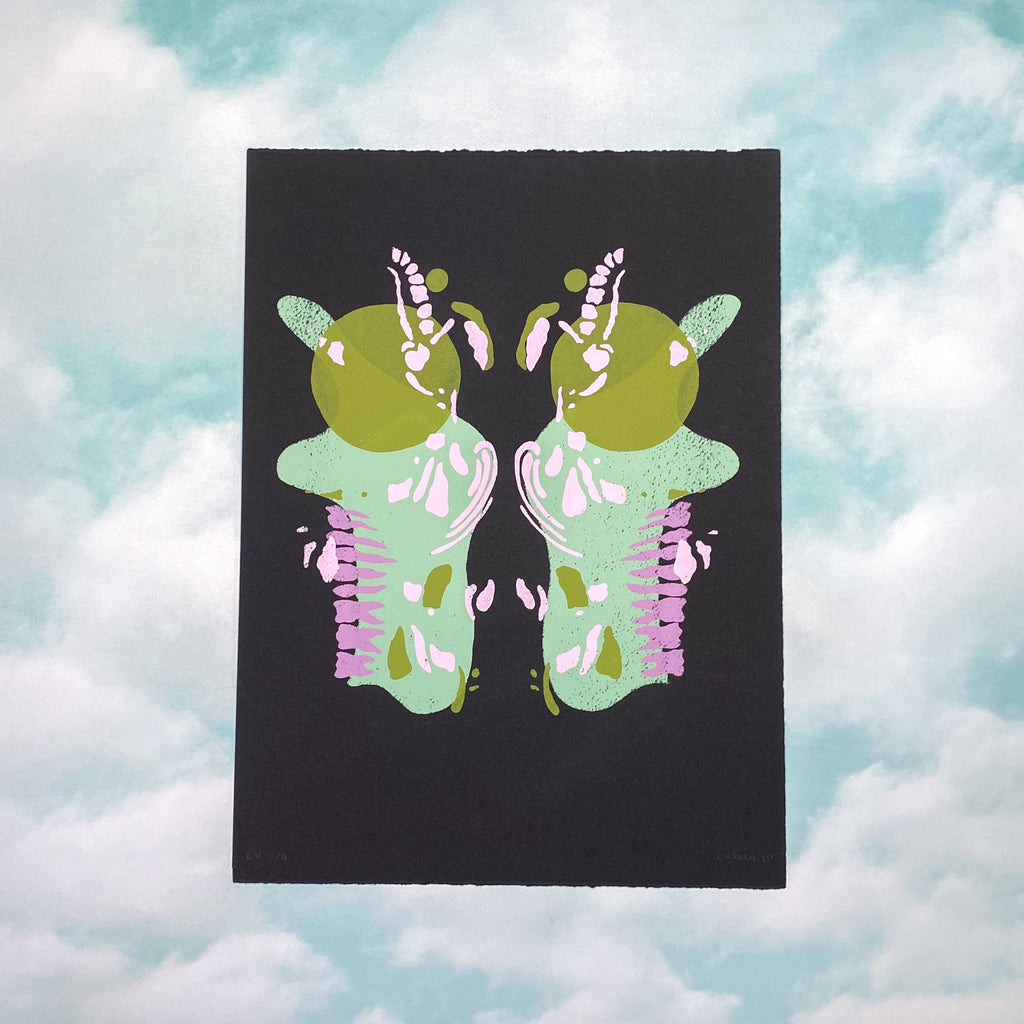Big Gay Butterfly on Black <br> By Charlie Northrop <br> (sliding scale $10-$20)