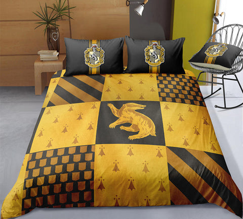 Housse De Couette Poufsouffle Harry Potter