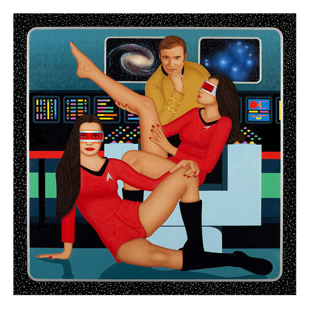 The Bridge of the Starship Enterprise. Painting by KimKern.com.
