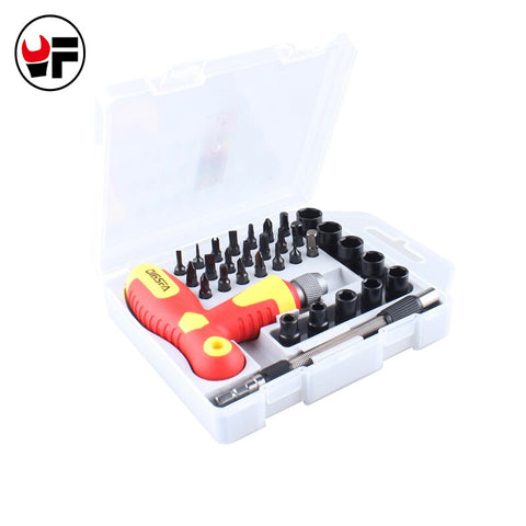 33 in 1 Manual Precise Screwdriver Tool Set Extention T Type Screwdriver Set Torx Hex Cross Triangle Bits Torx Tool kit DN126