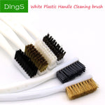 2/6pcs DuPont Copper Wire Nylon Cleaning Brush Set Industrial Brush with Plastic handle Clean rust hand tool Making accessories