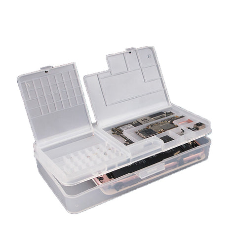 Multi-function Storage Box for iPhone LCD Screen Motherboard IC Chips Component Screws Organizer Container Cellphone Repair Tool