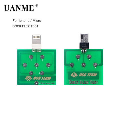 UANME 2Pcs/Lot Charging Dock Flex Test Repair Tools For iPhoneX  8 8plus 7 6 6s Plus For Micro Android Phone Testing Tool