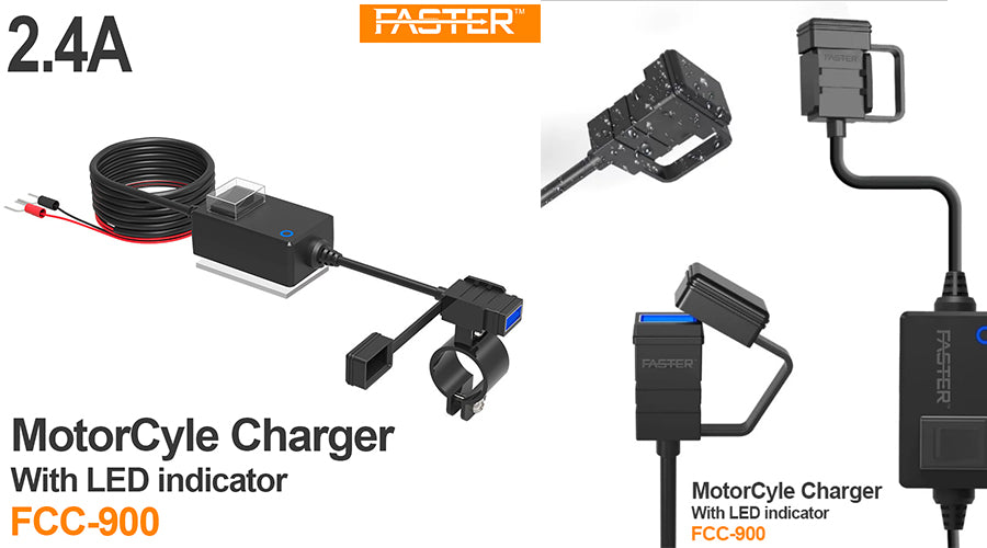 New Luxury Faster FCC-900 Motorcycle Water Proof Charger With LED Indicator