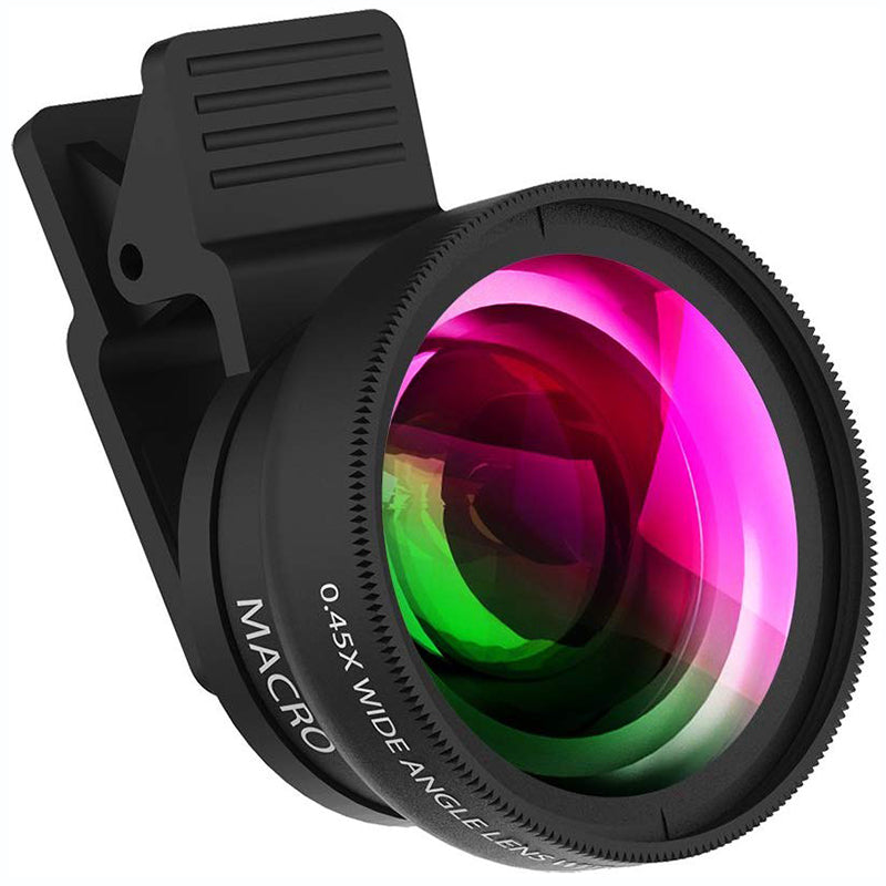 Mobile Phone Camera Lens 2 in 1 Mobile Lens Kit Super Wide Angle
