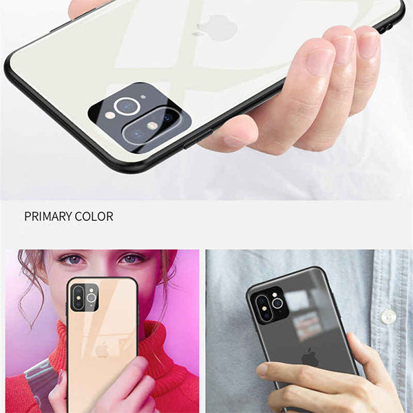 New Seconds Change Converter Tempered Glass Mobile Phone Case For iPhone