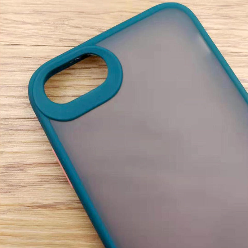 Fancy Matte Frosted Phone Case with Camera Lens Protection For iPhone