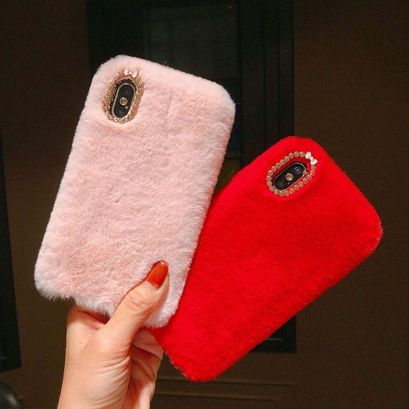 Fluffy Fur Case For iPhone X/XS