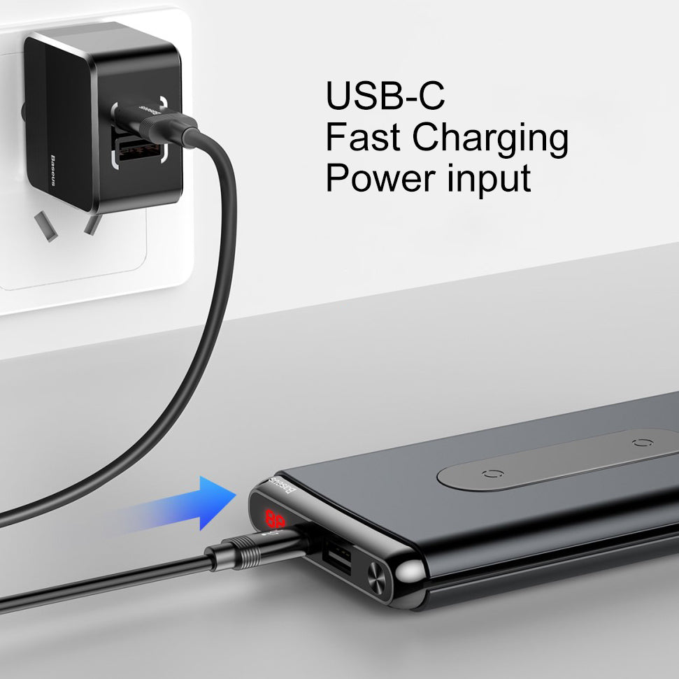 New Trendy Baseus dual coil wireless charging power bank