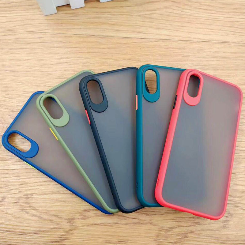 Fancy Matte Frosted Phone Case with Camera Lens Protection For iPhone x