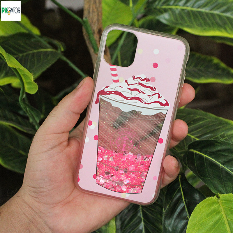 New Stylish Cartoon Design Sand Glitter Phone Case For iPhone