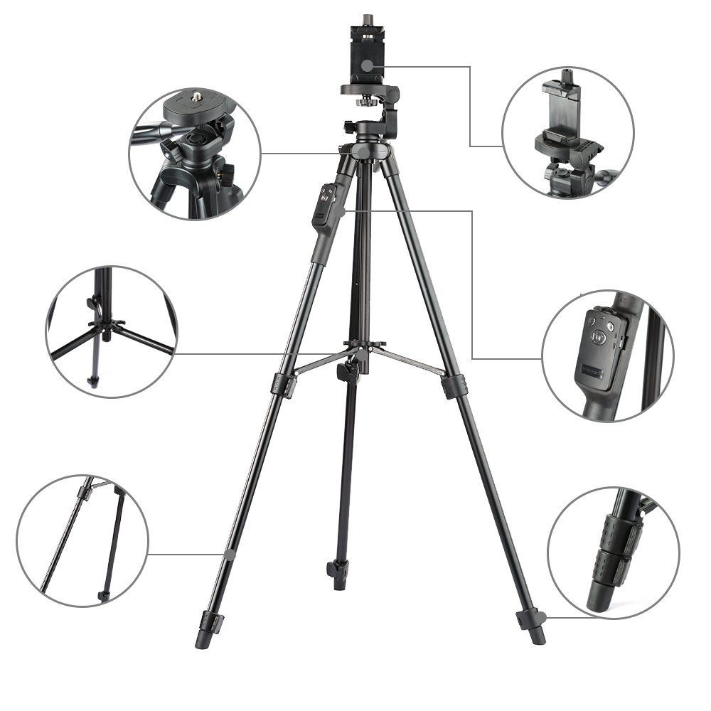 New Luxury 5208 Tripod Stand With Bluetooth Remote