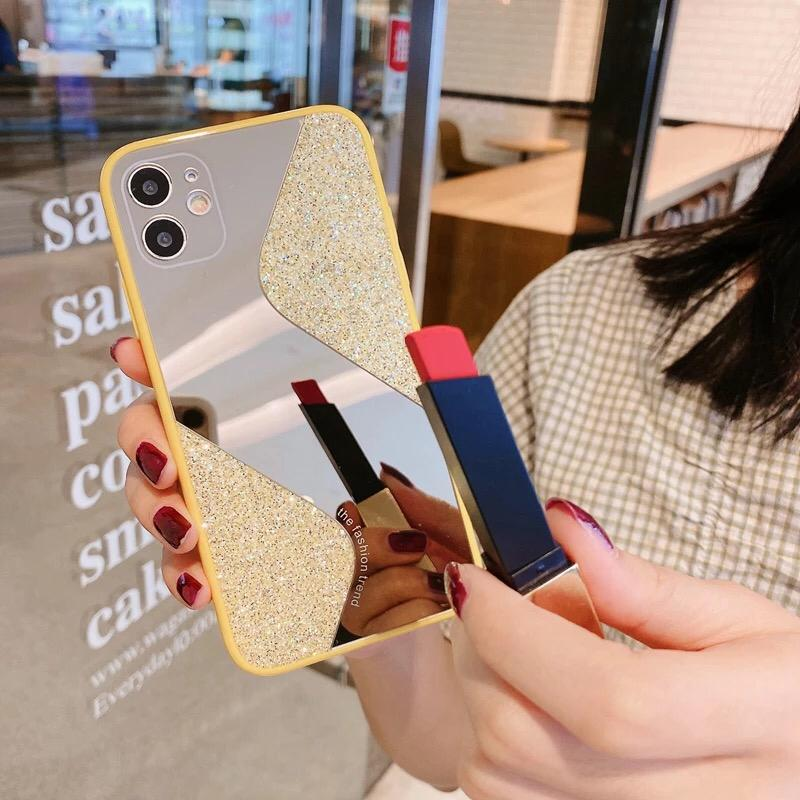 Protective Fashion Makeup Mirror Phone Cover For iPhone