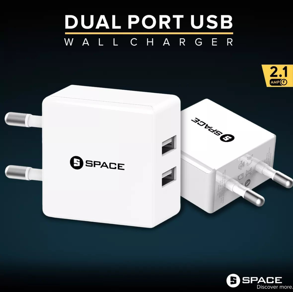 New Exclusive SPACE WC-101 Dual Port USB Port Wall Charger