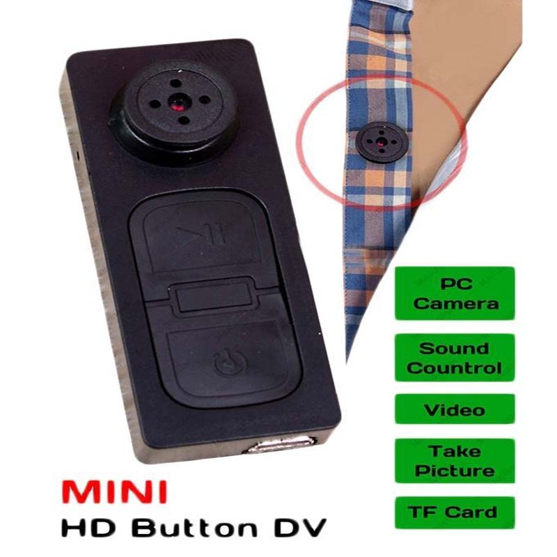 Shirt Button Hidden Security Camera With Microphone Video Recorder