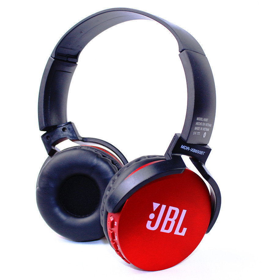 New Stylish JBL Extra Bass 650 Red Bluetooth Wireless Headset - Pkgator