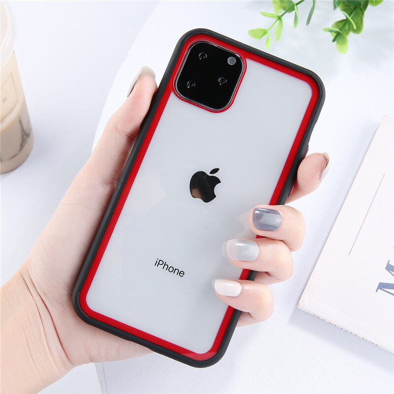 New On Trend Transparent Candy Contrast Color Phone Case For Xiaomi
