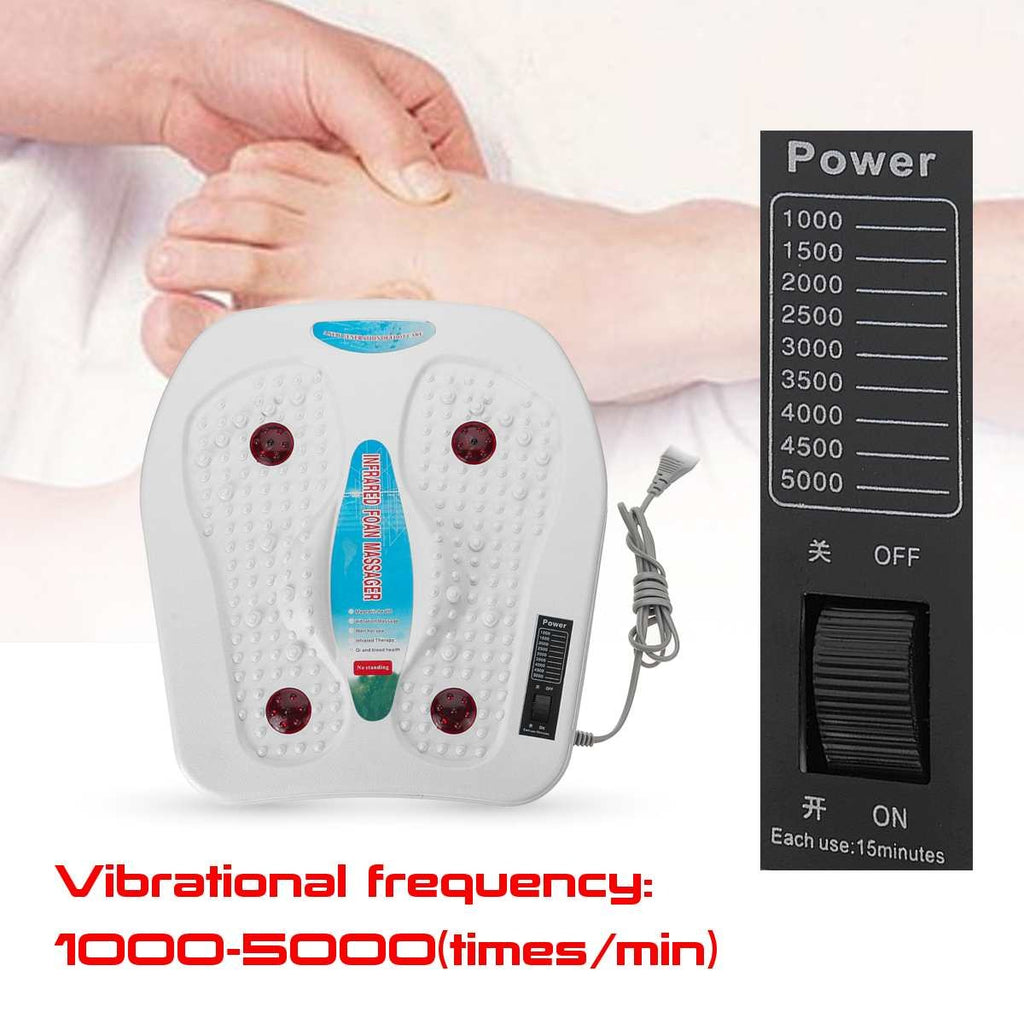 220V Electric Infrared Vibrator Foot Infrared Massager For Men Women