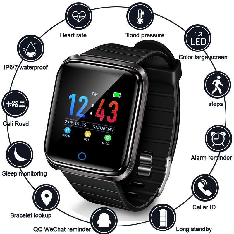 New Exclusive D28 Smart Bracelet Sports Watch For All Smartphones - Pkgator
