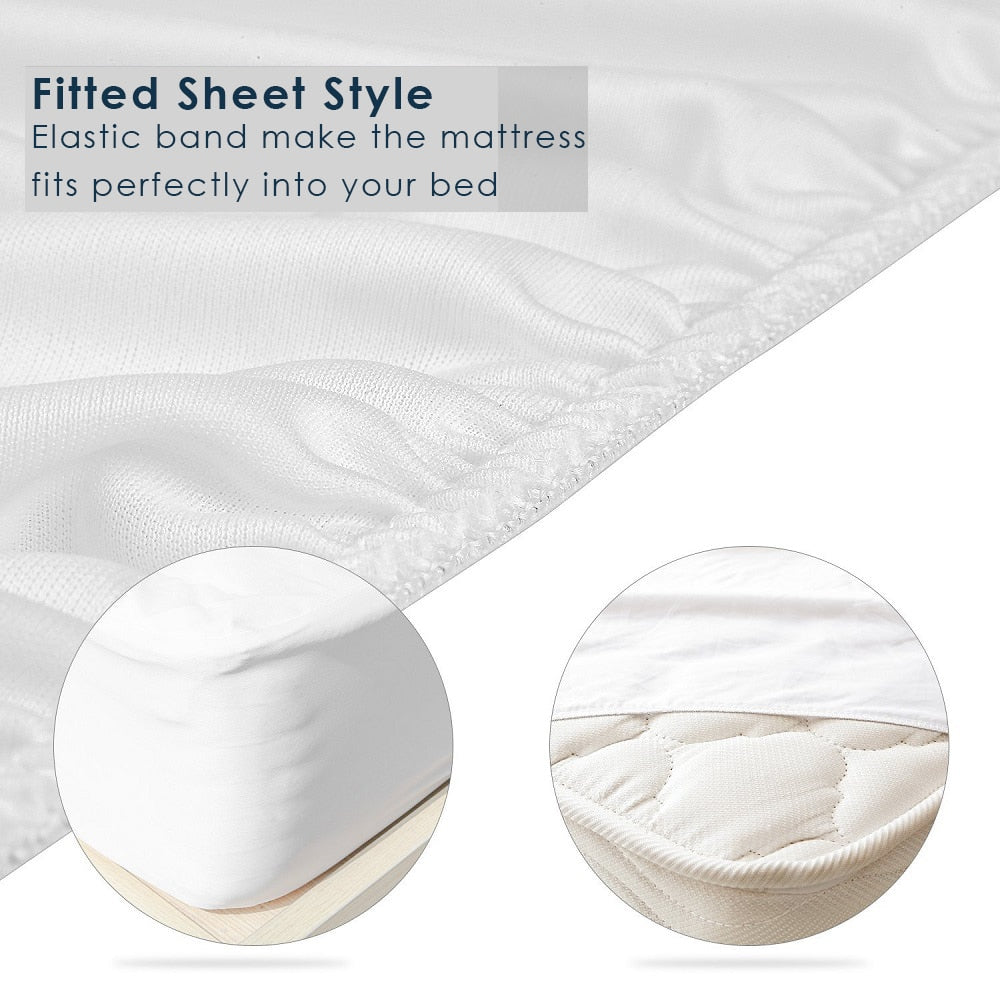 New Trendy Classic Smooth Waterproof Bed Mattress Protector