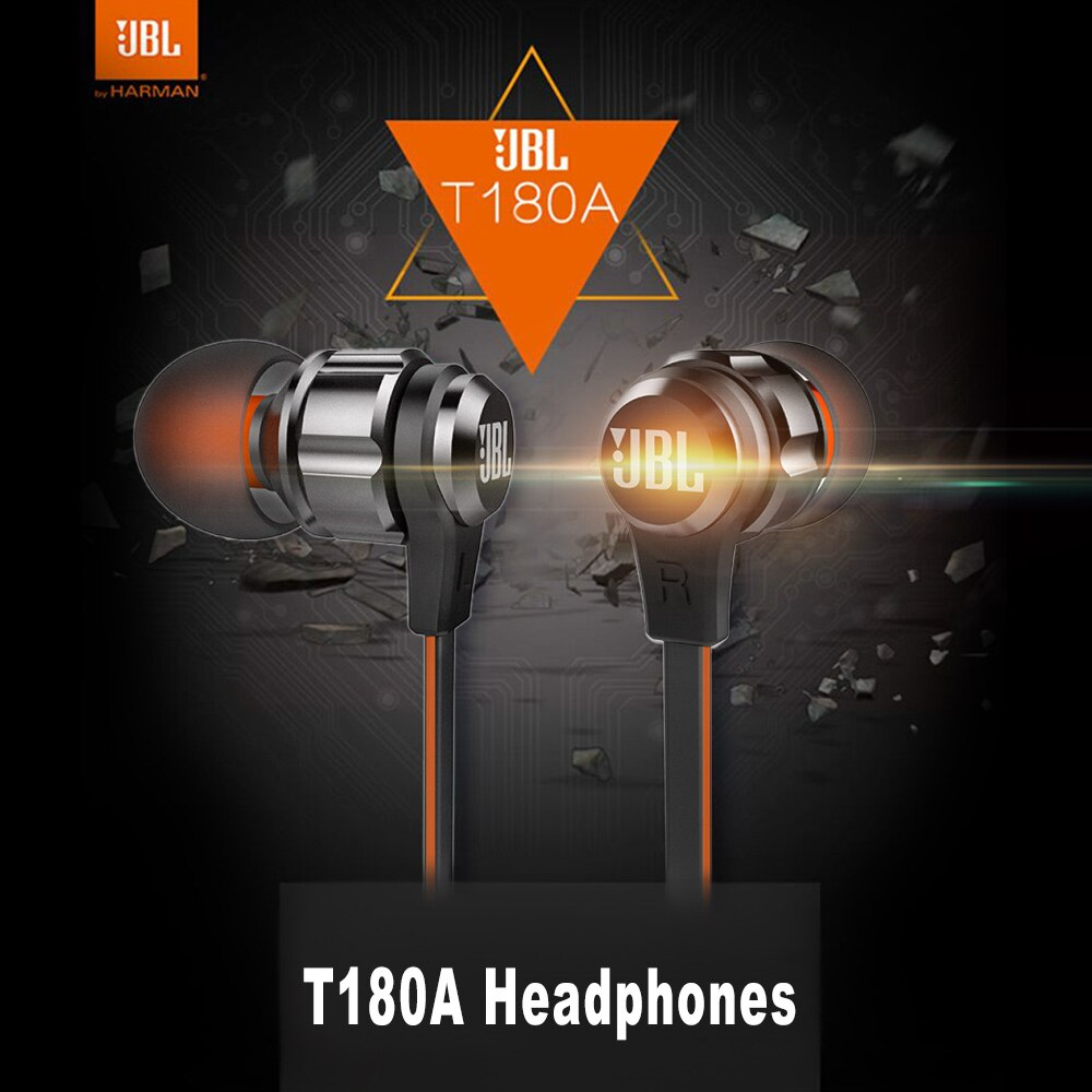 Exclusive Jbl T180A In-Ear Headphone For All Smartphones