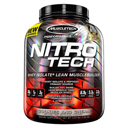 New Muscle Tech NITRO-TECH 4 Lbs Supplement For Men Women
