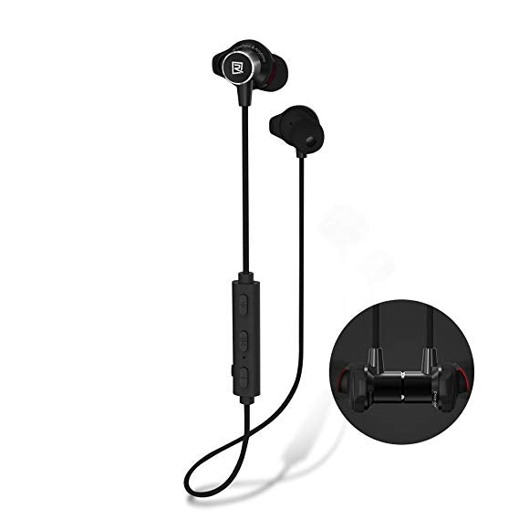 New REMAX Wireless Magnetic Sporty Bluetooth Earphones RB-S7 - Pkgator