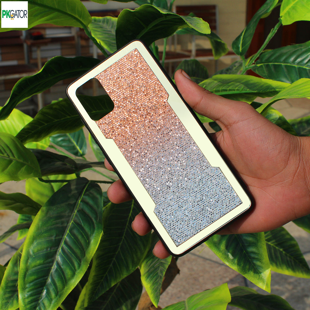 New Stylish Bling Glitter Two Shades Type Case For iPhone