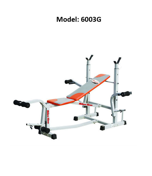 SLIMLINE 6003G Exercise Bench Press Home Gym Multi Function For Men Women
