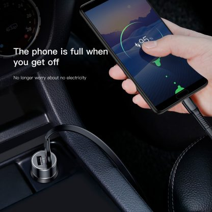 New Trendy Baseus Small Screw 3.4 A Dual USB Car Charger
