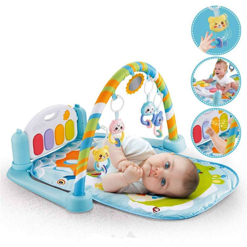 New Trendy Baby Projection Piano Gym Mat