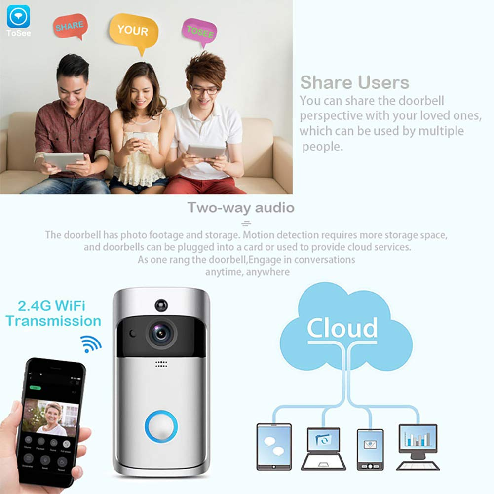 New Trendy V5 Doorbell Smart Wireless IP WiFi Security Camera