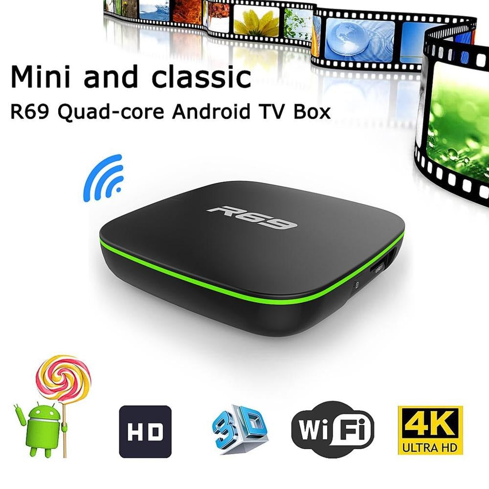 New Android 7.1 Smart TV Box R69 2GB 16GB TV Box Quad Core