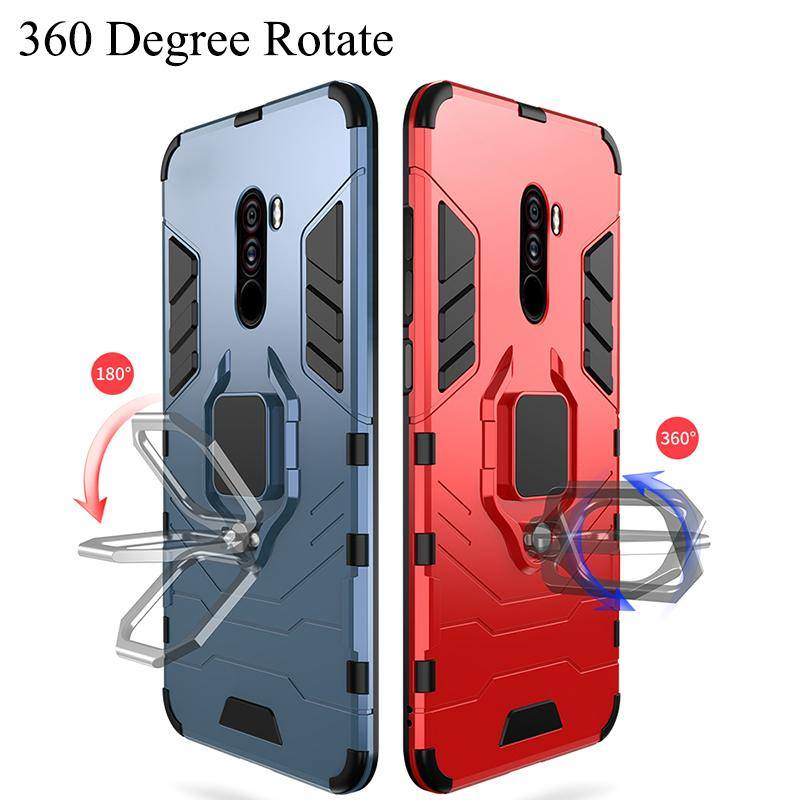 Hybrid Armour With Finger Ring Magnetic Car Holder Phone Case For iPhone