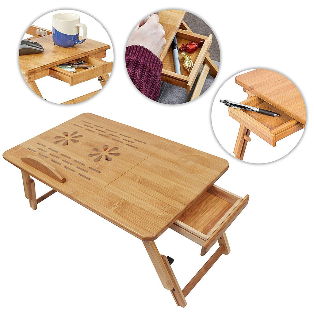 New Exclusive Suncool Portable Bamboo Laptop Wooden Table