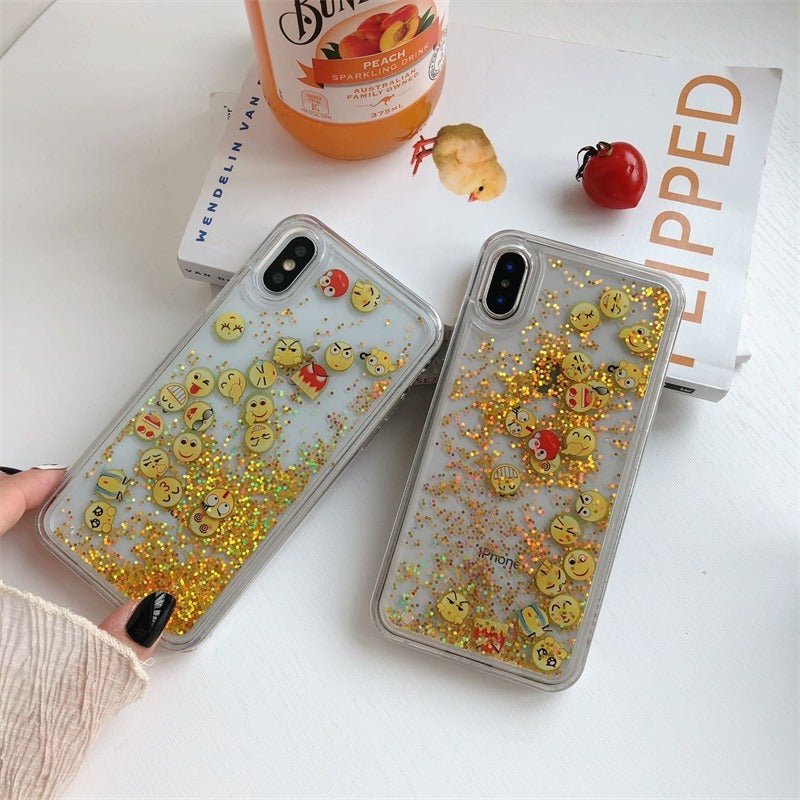 Emoji glitter case for iphone Xsmax