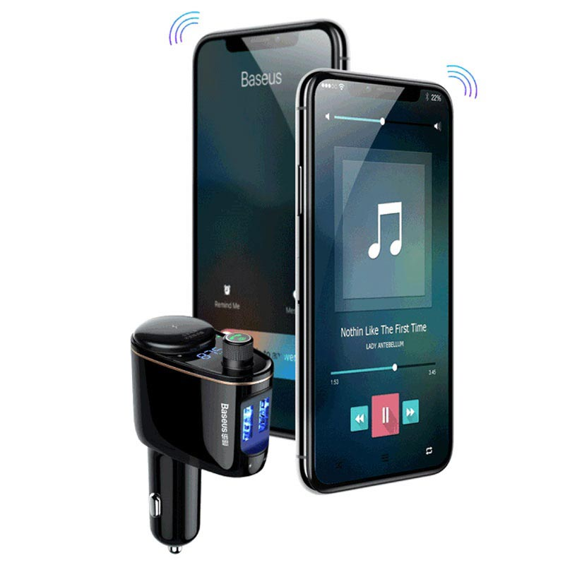 New Baseus Locomotive Bluetooth FM Transmitter & Car Charger