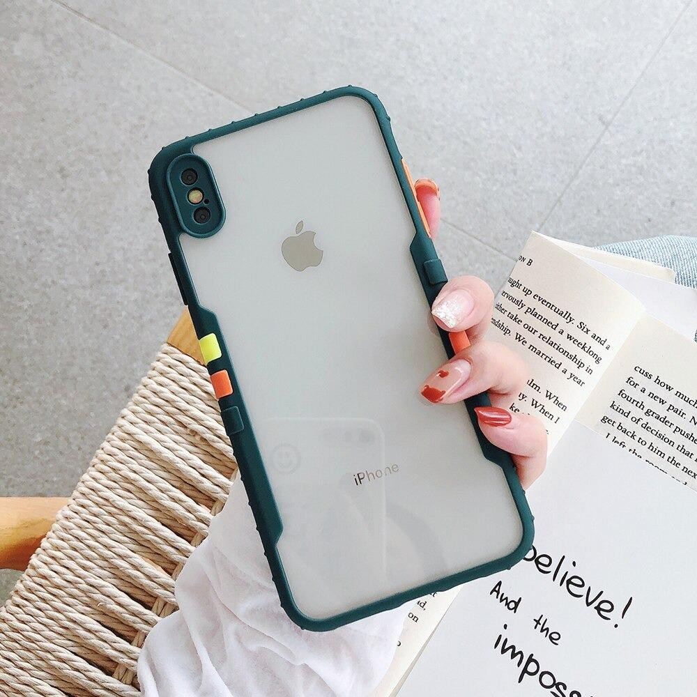 Anti Slip Matte Contrast Bumper Soft TPU Mobile Cover For iPhone 11 Pro